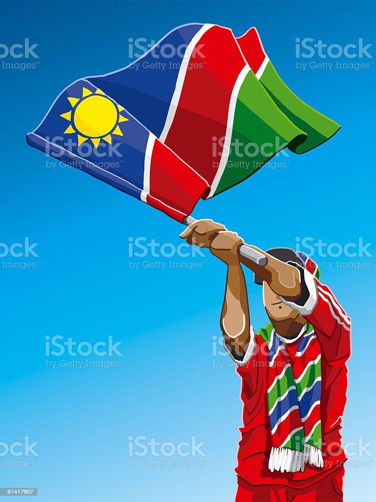 Namibia Waving Flag Soccer Fan royalty-free stock vector art