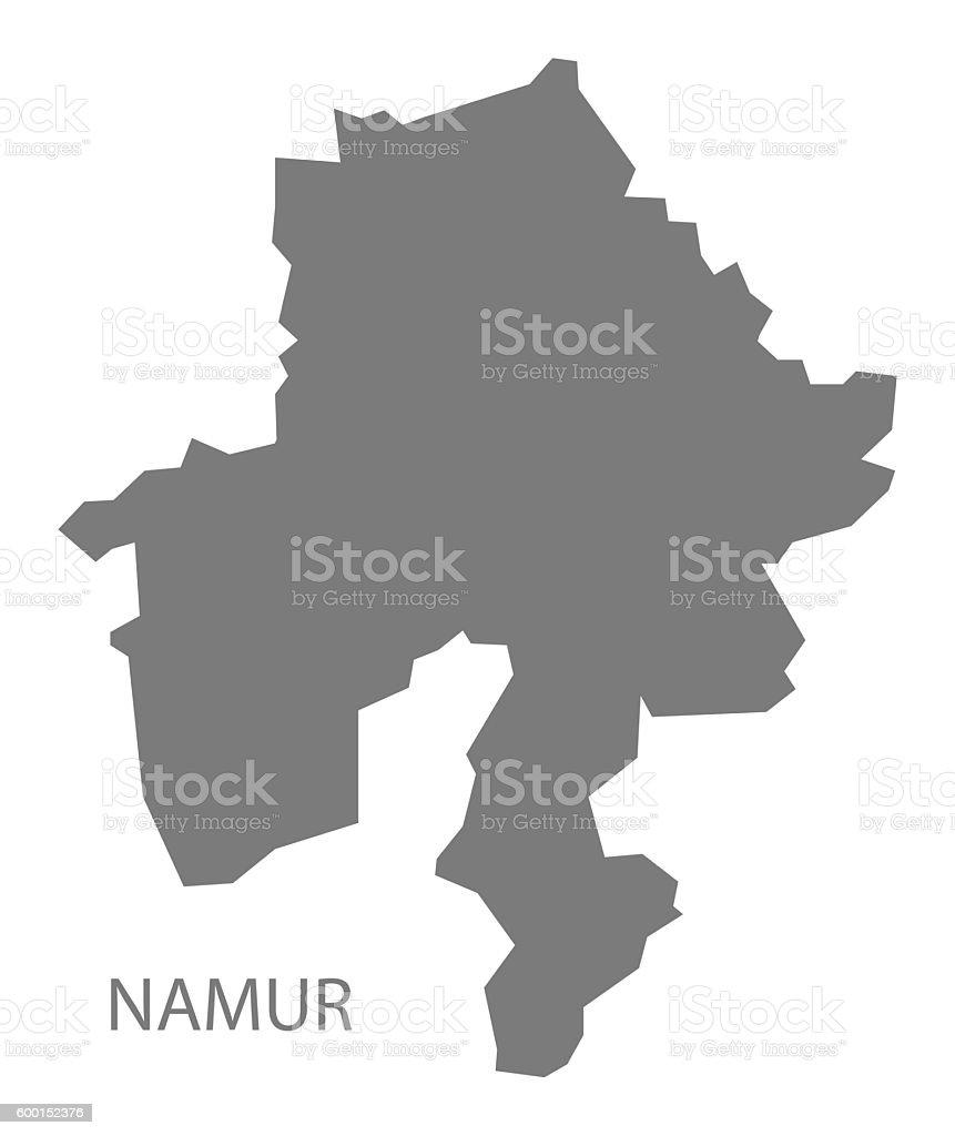 Namur Belgium Map Grey Illustracion Libre de Derechos 600152376 iStock
