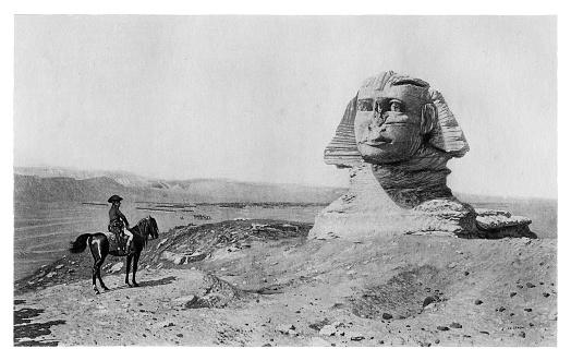 Napoleon Bonaparte at the Great Sphinx of Giza