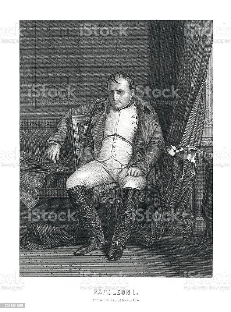 Napoleon I (1769-1821) (antique engraving) royalty-free stock vector art