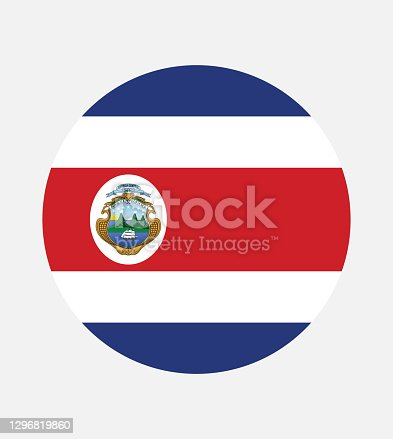 istock National Costa Rica flag, official colors and proportion correctly. National Costa Rica flag. Vector illustration. EPS10. Costa Rica flag vector icon, simple, flat design for web or mobile app. 1296819860