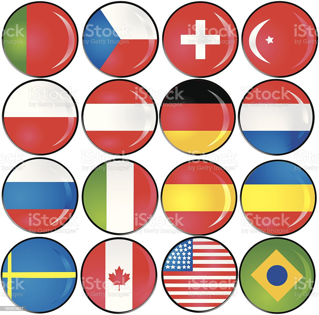 national flag buttons royalty-free national flag buttons stock vector art & more images of arts culture and entertainment