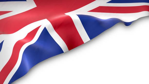 national flag of the united kingdom waving - uk flag stock illustrations, clip art, cartoons, & icons