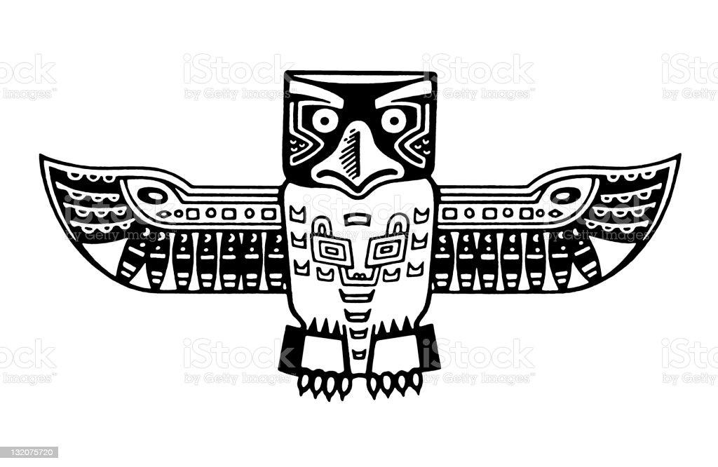 Native American Bird Figure royalty-free stock vector art