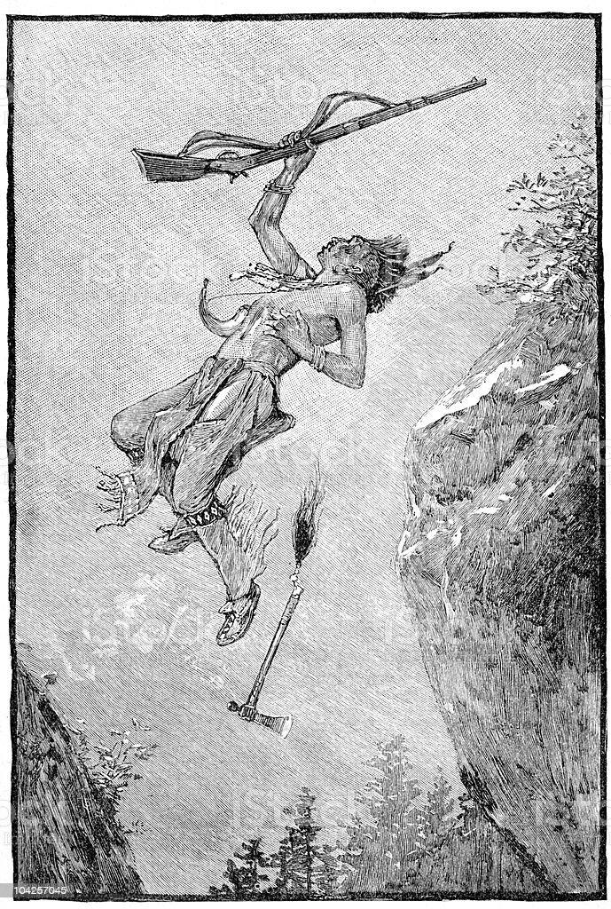 Native American Engraving vector art illustration