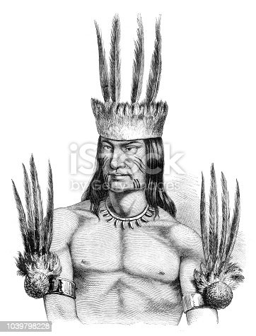 Steel engraving Indian Tribe Tikúna The Ticuna ( also Magüta, Tucuna, Tikuna, or Tukuna ) are an indigenous people of Brazil, Colombia, and Peru. They are the most numerous tribe in the Brazilian Amazon Original edition from my own archives Drawing : Freeman after M.E. Deville Source : Tour du Monde 1851