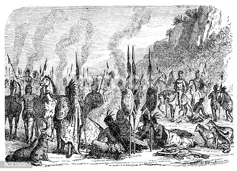Native american indian camp