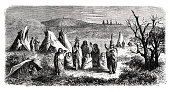 istock Native american indian sioux camp 1864 1307384484