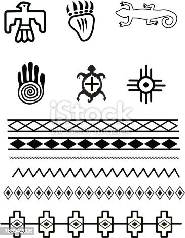 Native American Symbols Stock Vector Art Amp More Images Of