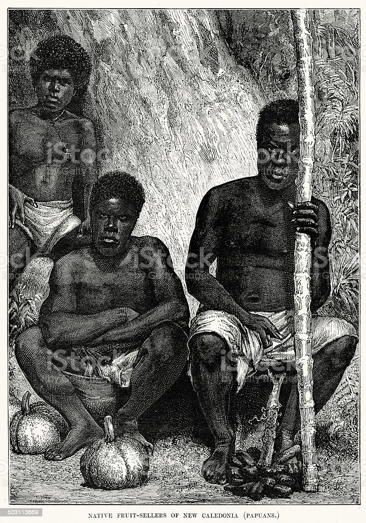 Native fruit sellers of New Caledonia royalty-free native fruit sellers of new caledonia stock vector art & more images of 19th century