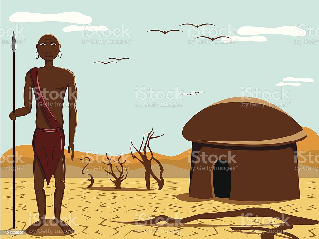 native people of africa vector art illustration