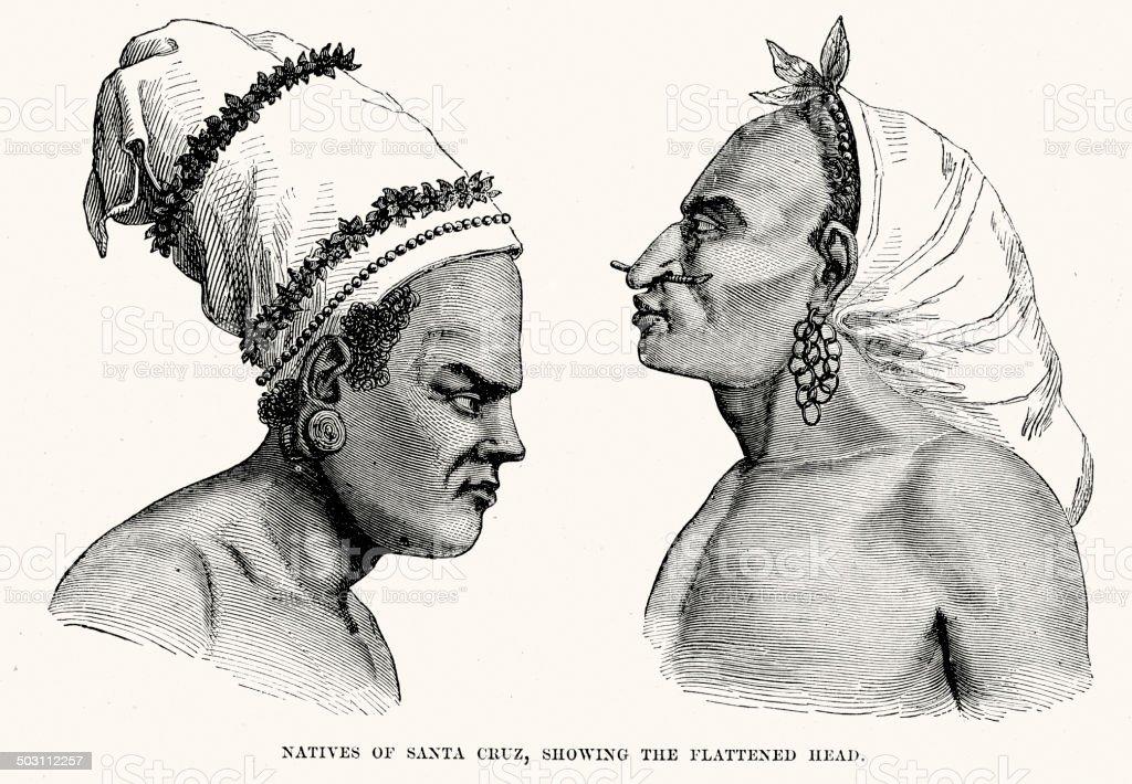 Natives of Santa Cruz royalty-free natives of santa cruz stock vector art & more images of 19th century