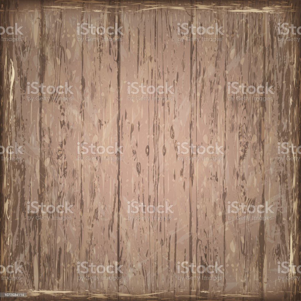 Natural Brown  Wooden Floor or Wall. Vintage Style. vector art illustration