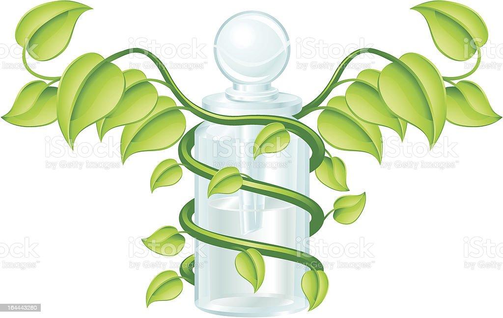 Natural caduceus bottle concept royalty-free stock vector art