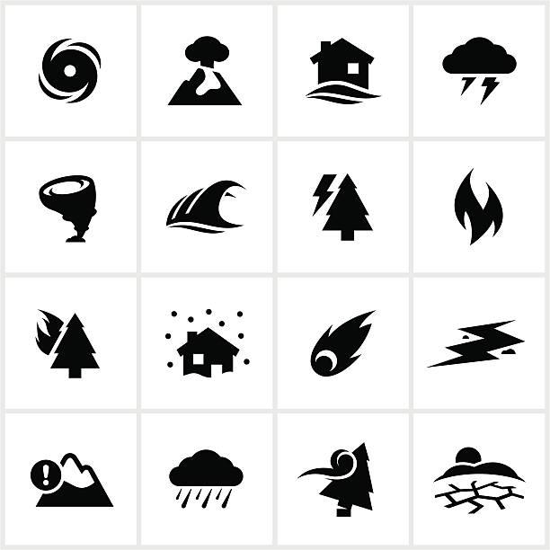 ilustraciones, imágenes clip art, dibujos animados e iconos de stock de catástrofe natural iconos - hurricane