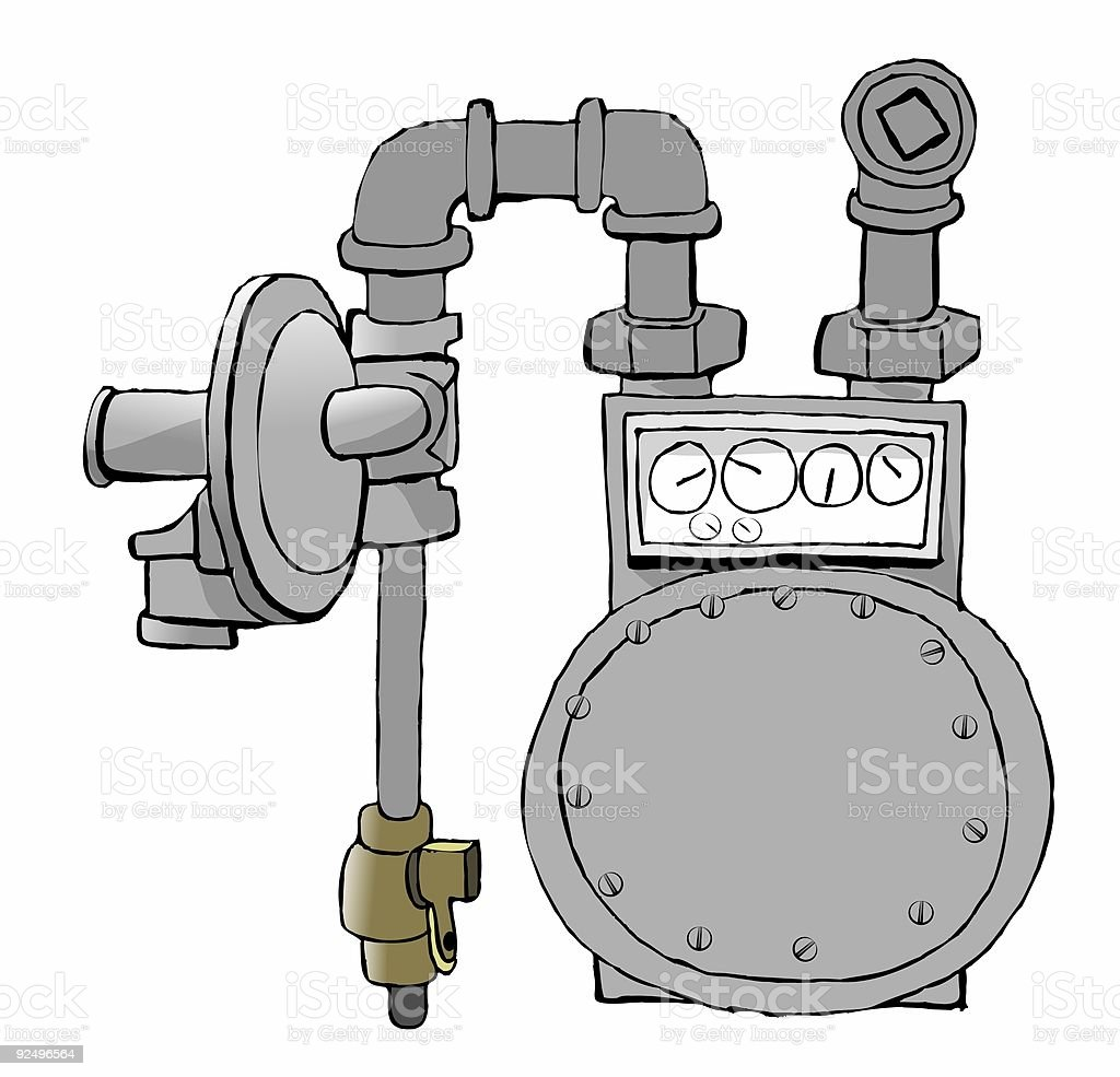 Natural Gas Meter royalty-free natural gas meter stock vector art & more images of color image