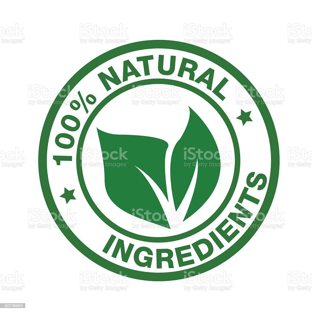 Natural Ingredients vector art illustration