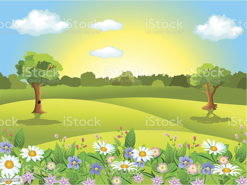 natural meadow royalty-free stock vector art