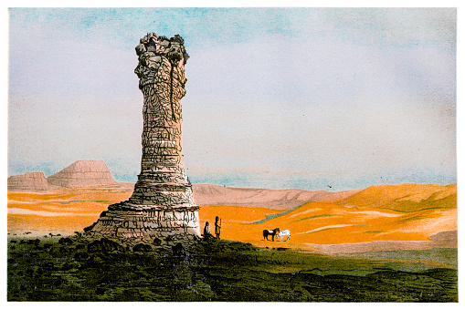 Illustration of a Natural pillar in Wyoming