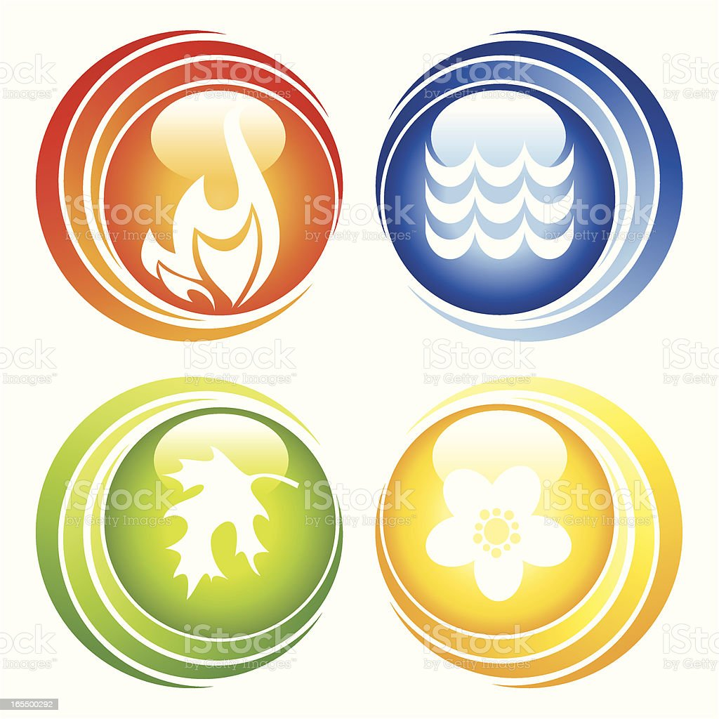 nature buttons royalty-free stock vector art