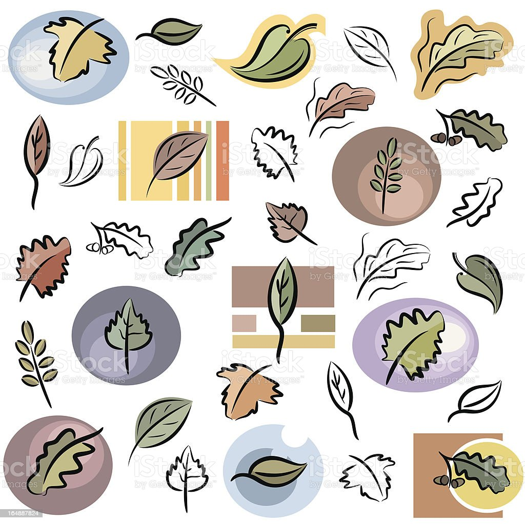Nature Icons (Vector) royalty-free stock vector art