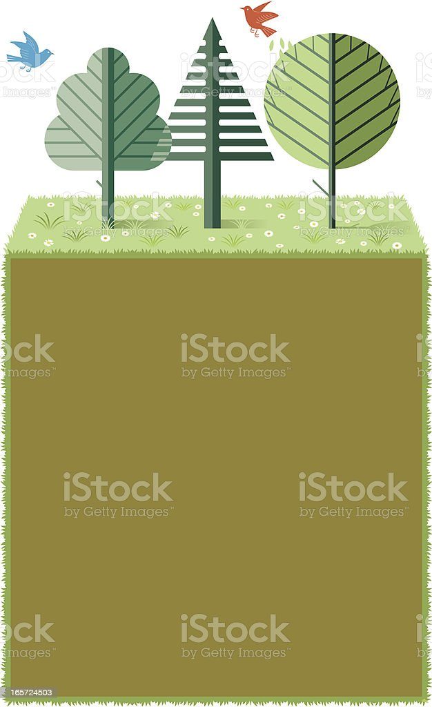 Nature poster vector art illustration