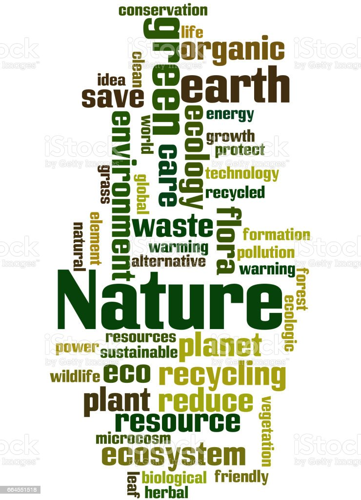Nature, word cloud concept royalty-free nature word cloud concept stock vector art & more images of care