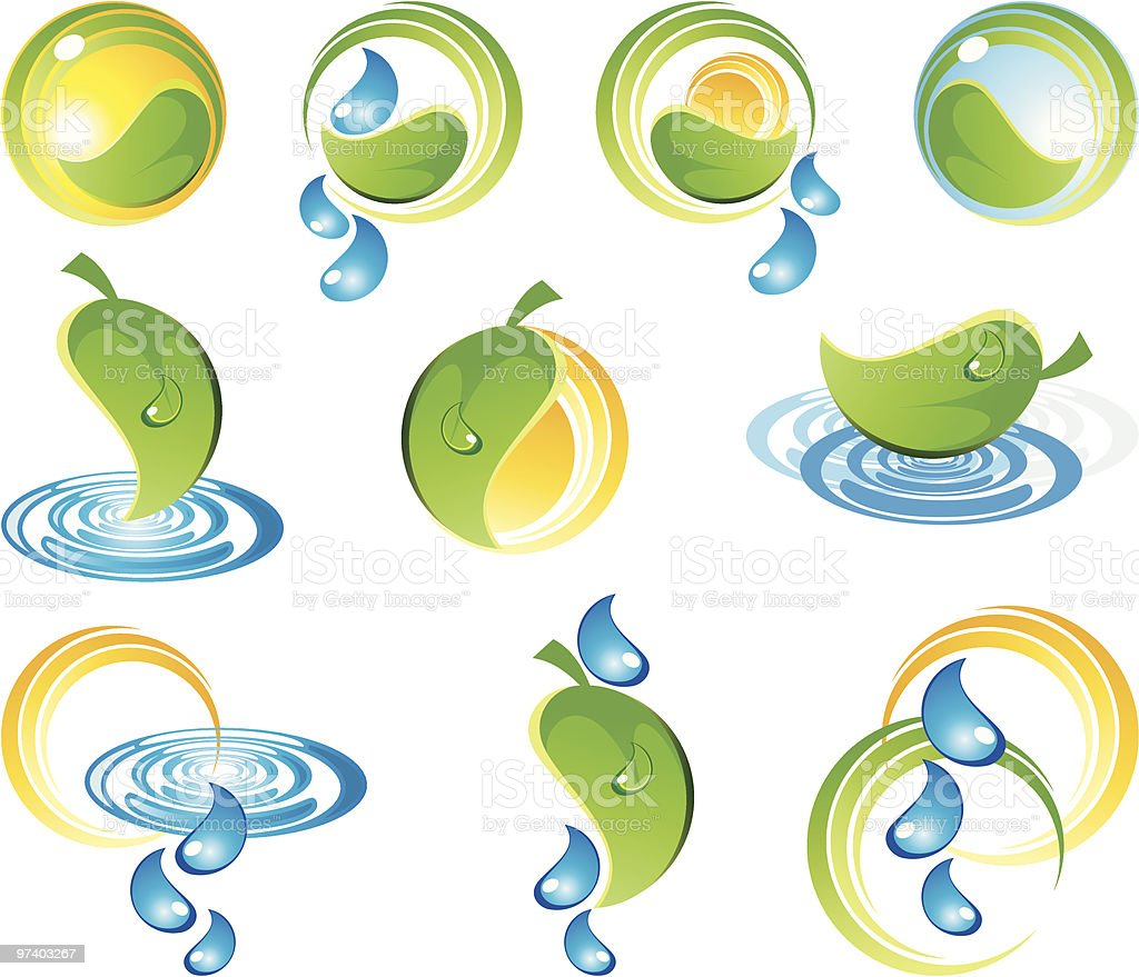 Natures designs royalty-free stock vector art