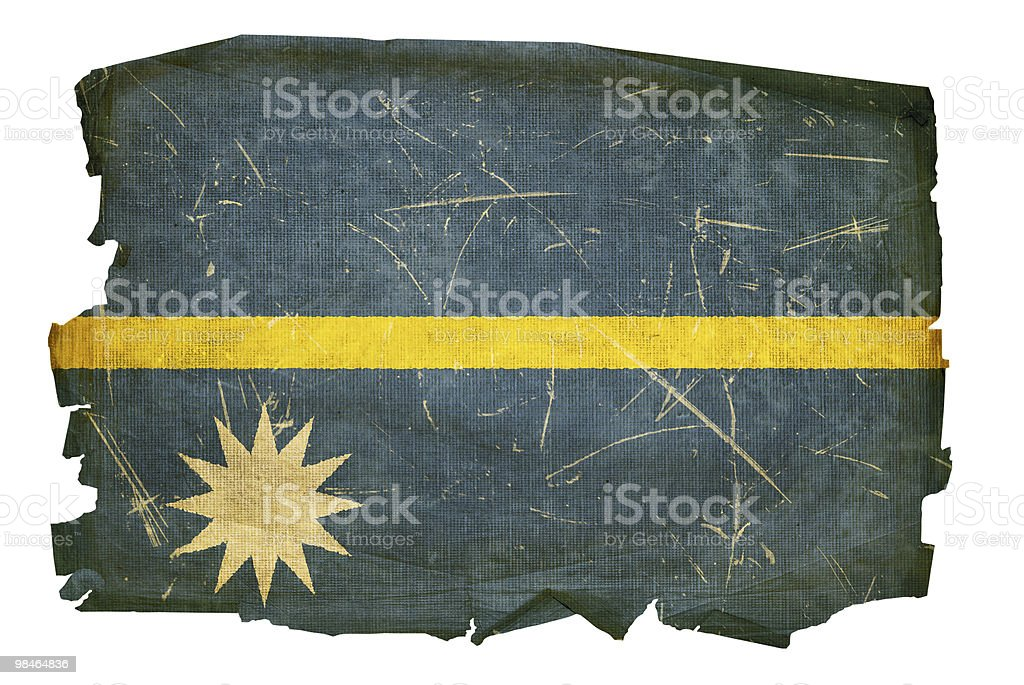 Nauru Flag old, isolated on white background. royalty-free nauru flag old isolated on white background stock vector art & more images of aging process