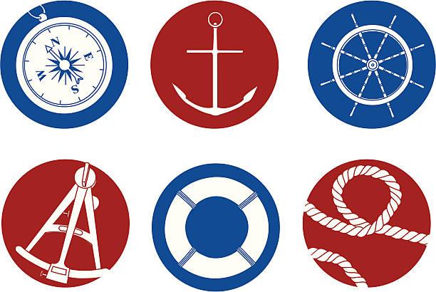 ilustrações de stock, clip art, desenhos animados e ícones de ícones de náutica - sextante