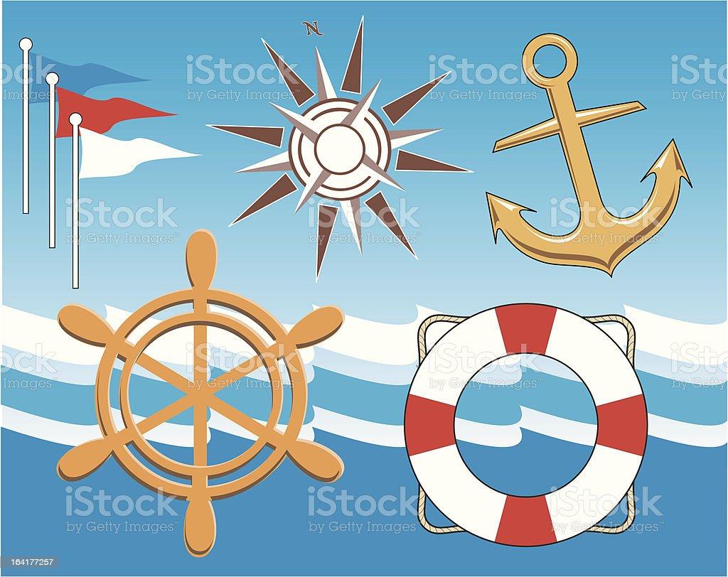 Nautical royalty-free stock vector art