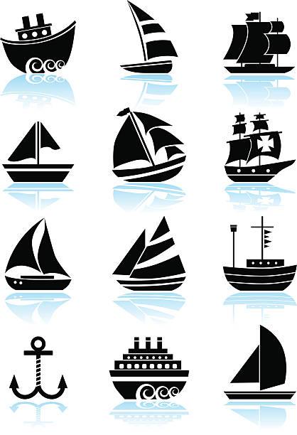 Nautical Ship Set  composition stock illustrations