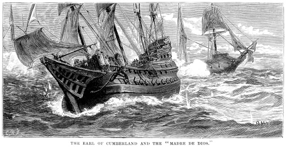 Naval Warfare - Cumberland and the Madre de Deus