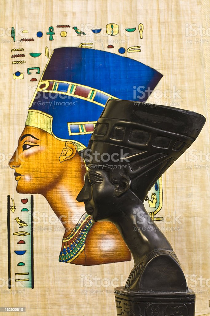 Nefertiti  statue souvenir royalty-free stock vector art