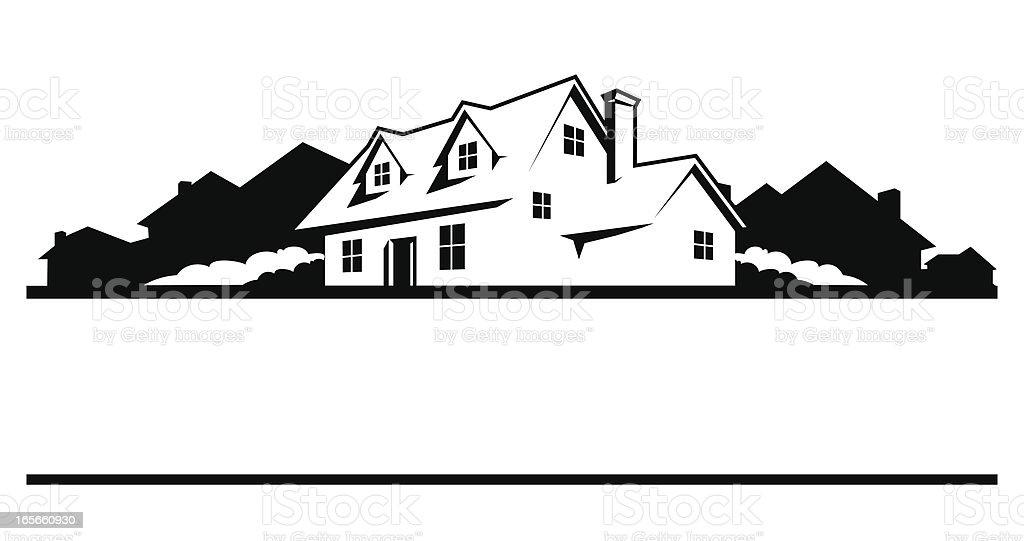 Neighborhood House vector art illustration