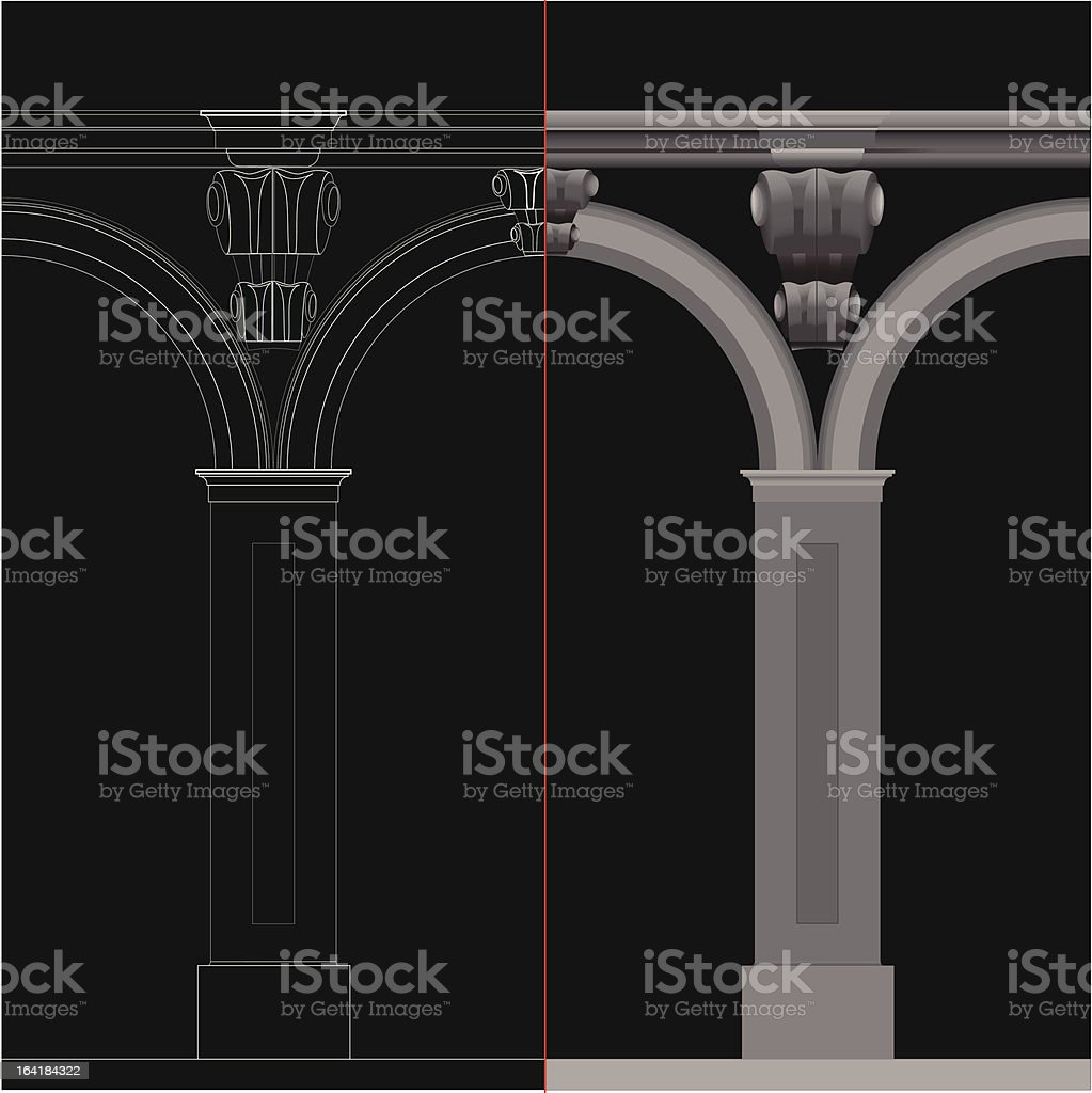 Neoclassical Columns royalty-free neoclassical columns stock vector art & more images of architectural column