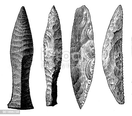 Illustration oF A Neolithic tools