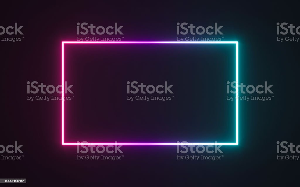 Neon frame sign royalty-free neon frame sign stock illustration - download image now