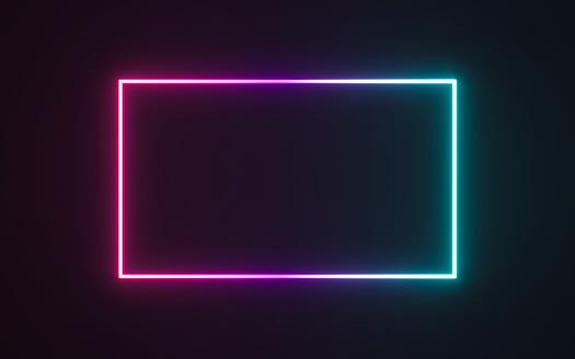 Neon frame sign