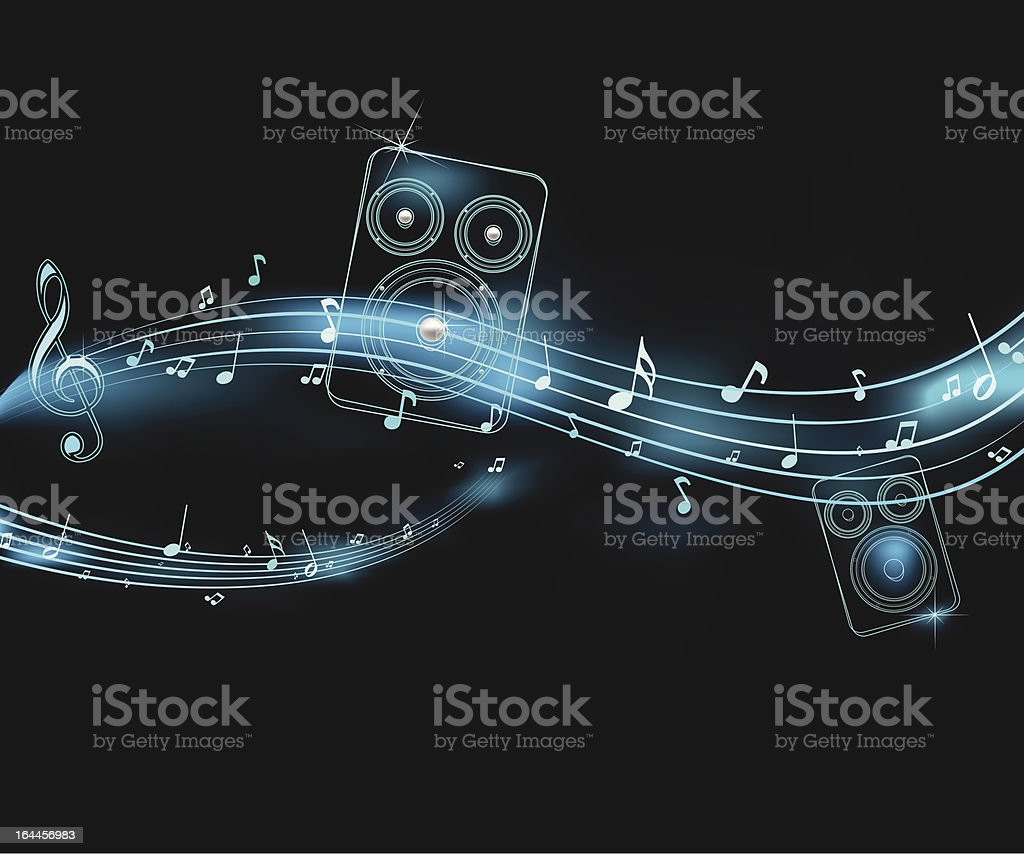 neon music illustration royalty-free stock vector art