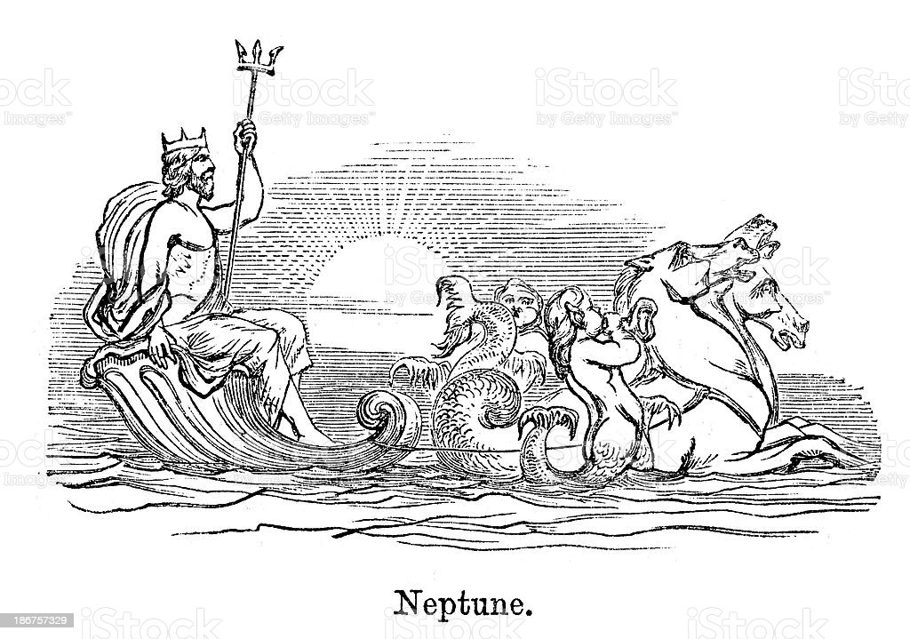 Neptune royalty-free neptune stock vector art & more images of ancient
