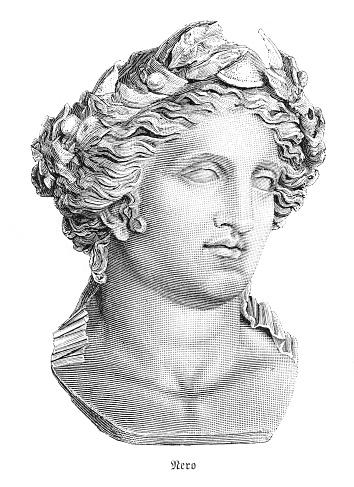 Nero Claudius Caesar Roman emperor portrait