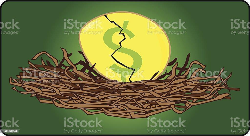 Nest Egg royalty-free nest egg stock vector art & more images of 401k