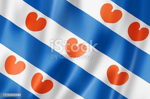 istock Netherlands Frisia ethnic flag, Europe 1225003330