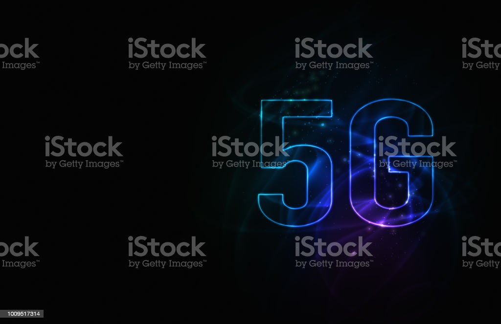 5G network of future technology image. blue background illustration. vector art illustration
