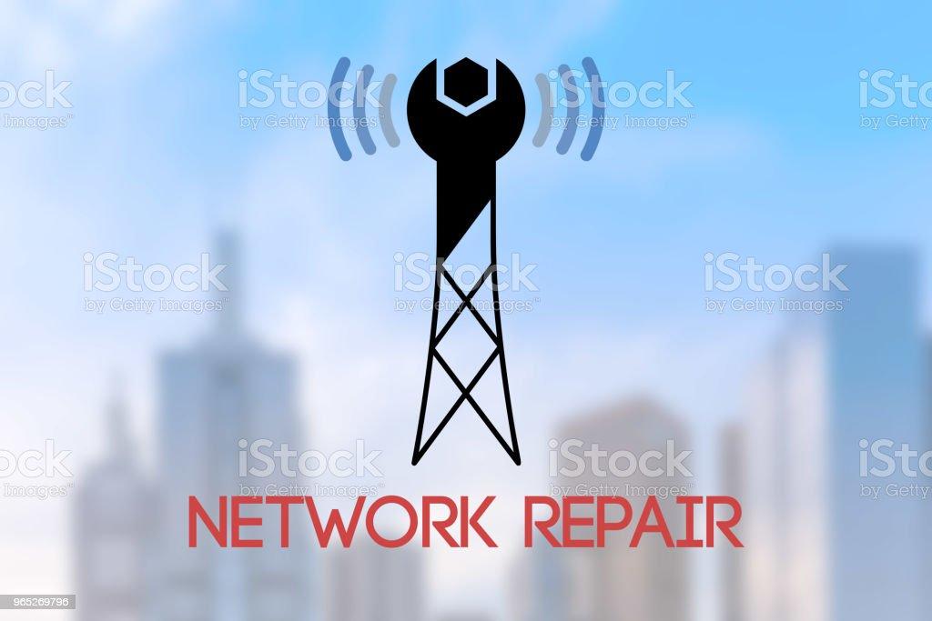 Network Repair Conceptual Symbol Stock Vector Art More Images Of