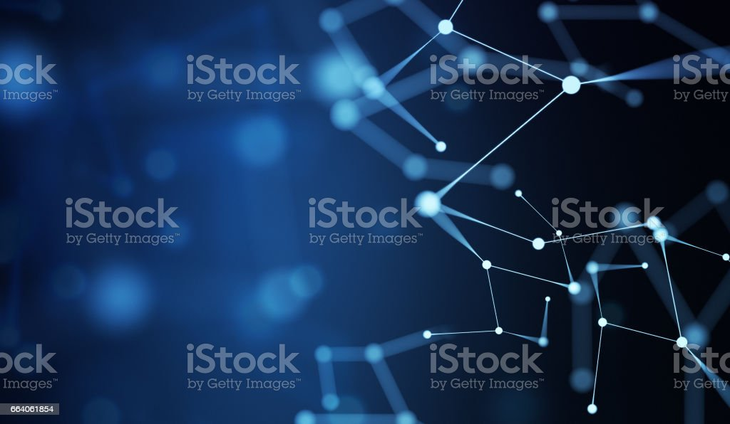 Network Technology Background vector art illustration