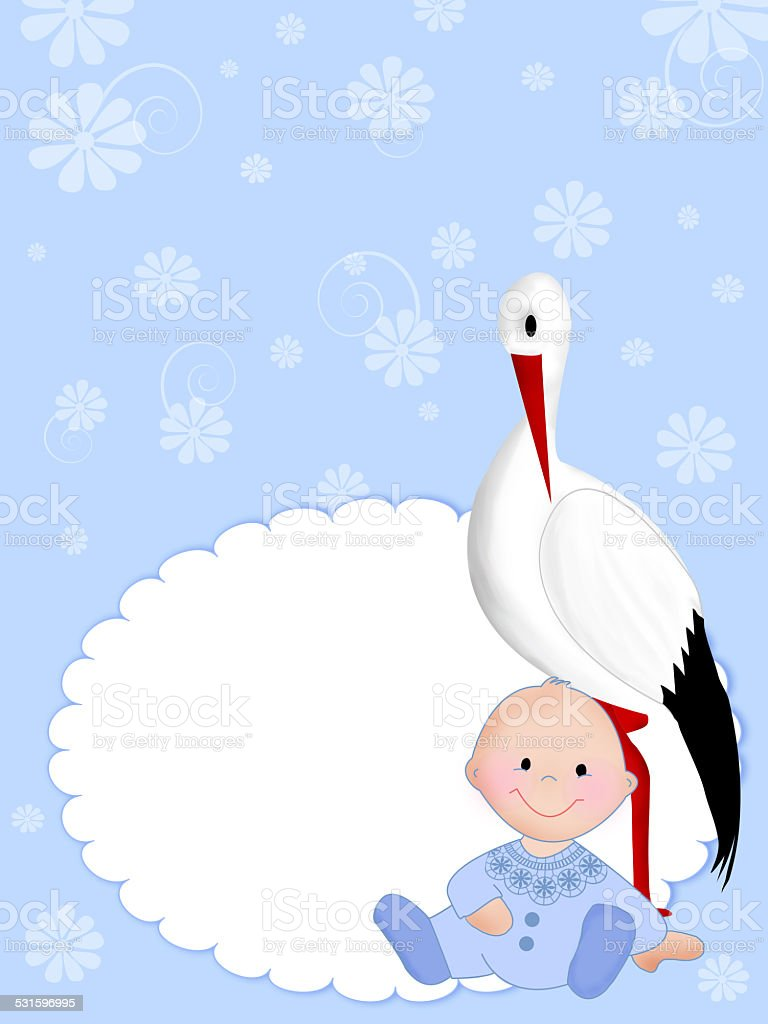 New Born Baby Greeting Card Stock Vector Art More Images Of 2015
