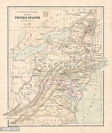 New England States Usa Map Stock Vector Art IStock - New england on us map