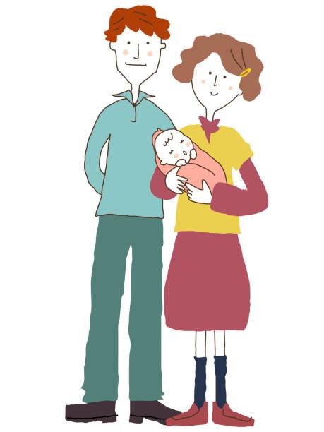 新しい家族メンバー - 夫婦点のイラスト素材/クリップアート素材/マンガ素材/アイコン素材